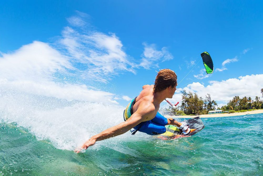 Kitesurfing in Bali