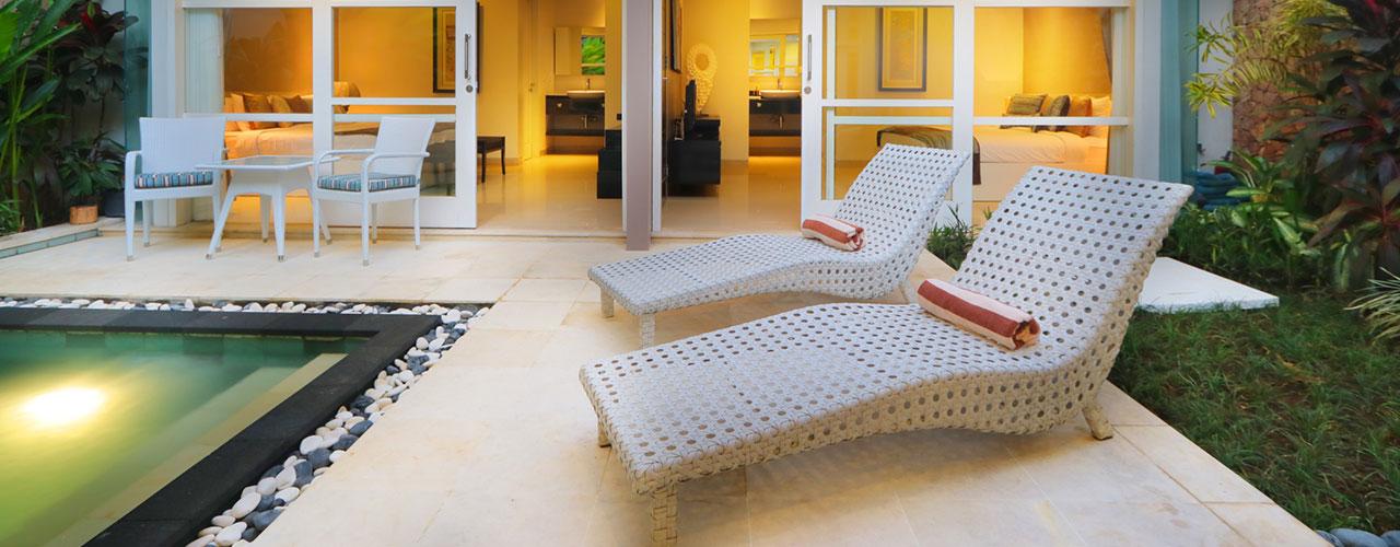 Villa White Pearl, 2 bedrooms 2 bedroom villa in Seminyak. Photo by Bali Villas Online.